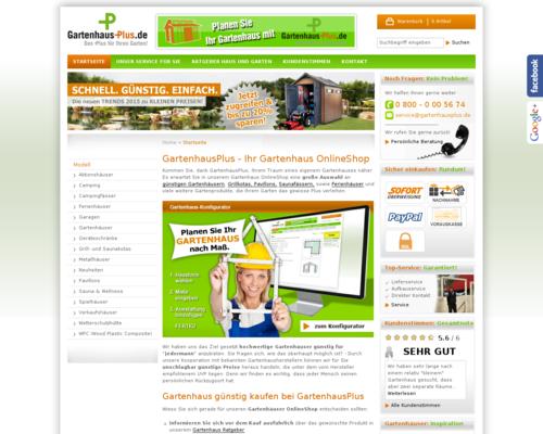 Gartenhaus Plus Gutschein